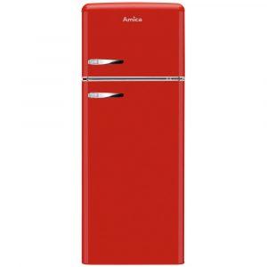 Amica FDR2213R 55cm Retro Fridge Freezer – RED