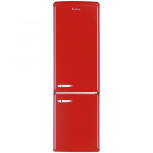 Amica FKR29653R 55cm Retro Fridge Freezer – RED