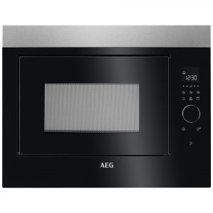AEG MBE2658DEM 60cm Built In Microwave & Grill For Tall Housing – STAINLESS STEEL