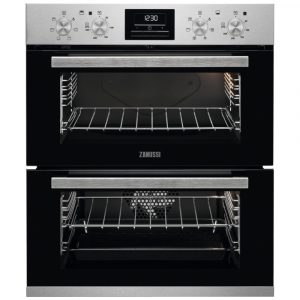 Zanussi ZOF35601XK Built Under Multifunction Double Oven – STAINLESS STEEL
