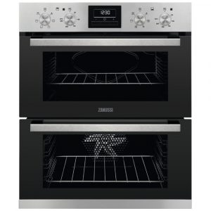Zanussi ZOF35661XK Built Under Multifunction Double Oven – STAINLESS STEEL