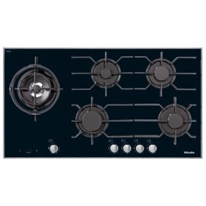 Miele KM3054-1 94cm Five Zone Gas On Glass Hob – STAINLESS STEEL
