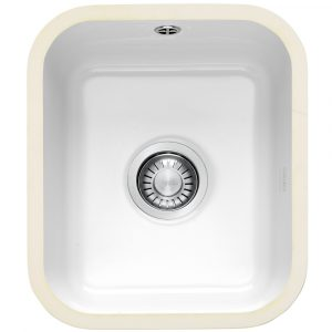 Franke VBK110 33 V&B Single Bowl Ceramic Undermount Sink – WHITE