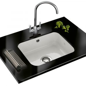 Franke VBK110 50 V&B Single Bowl Ceramic Undermount Sink – WHITE