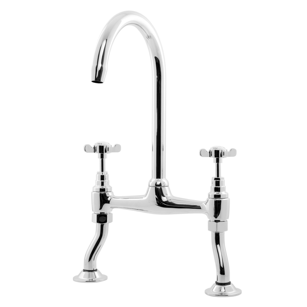 Image of Caple B/BRI4/CH Buckingham 2 Lever Bridge Tap - CHROME