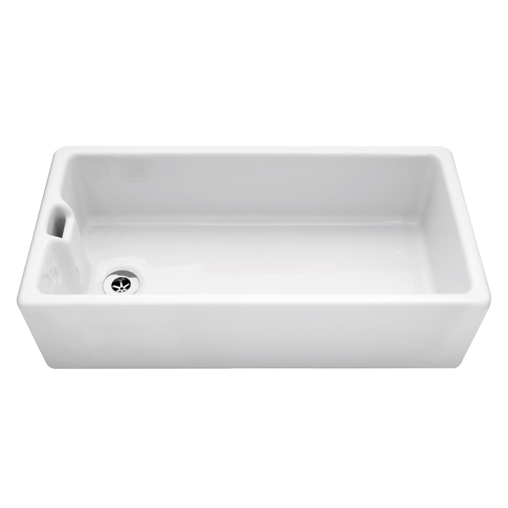 Image of Caple CPBS36 Belfast 92cm Single Bowl Ceramic Sink - WHITE
