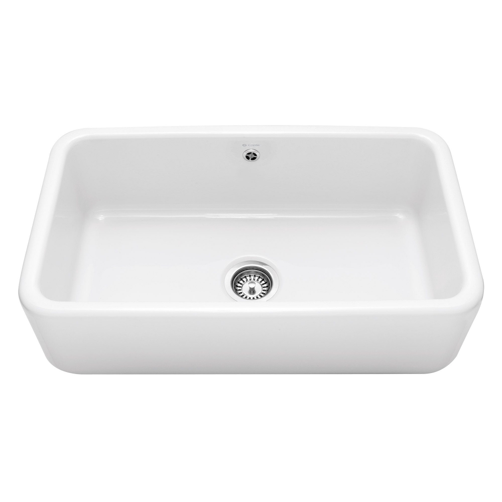 Image of Caple CPBS800 Butler 80cm Single Bowl Ceramic Sink - WHITE