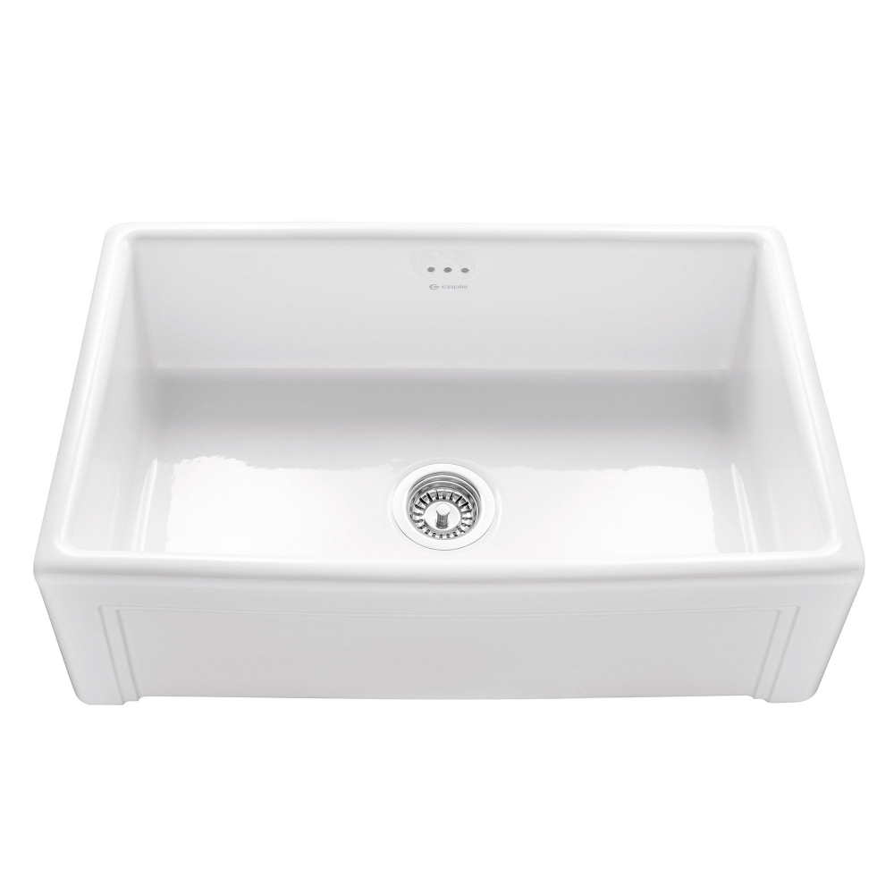 Image of Caple CPBS760 Belfast 76cm Single Bowl Ceramic Sink - WHITE