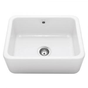 Caple CPBS600 Butler 60cm Single Bowl Ceramic Sink – WHITE