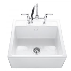 Caple CPBS600TL Butler 60cm Single Bowl Ceramic Sink – WHITE
