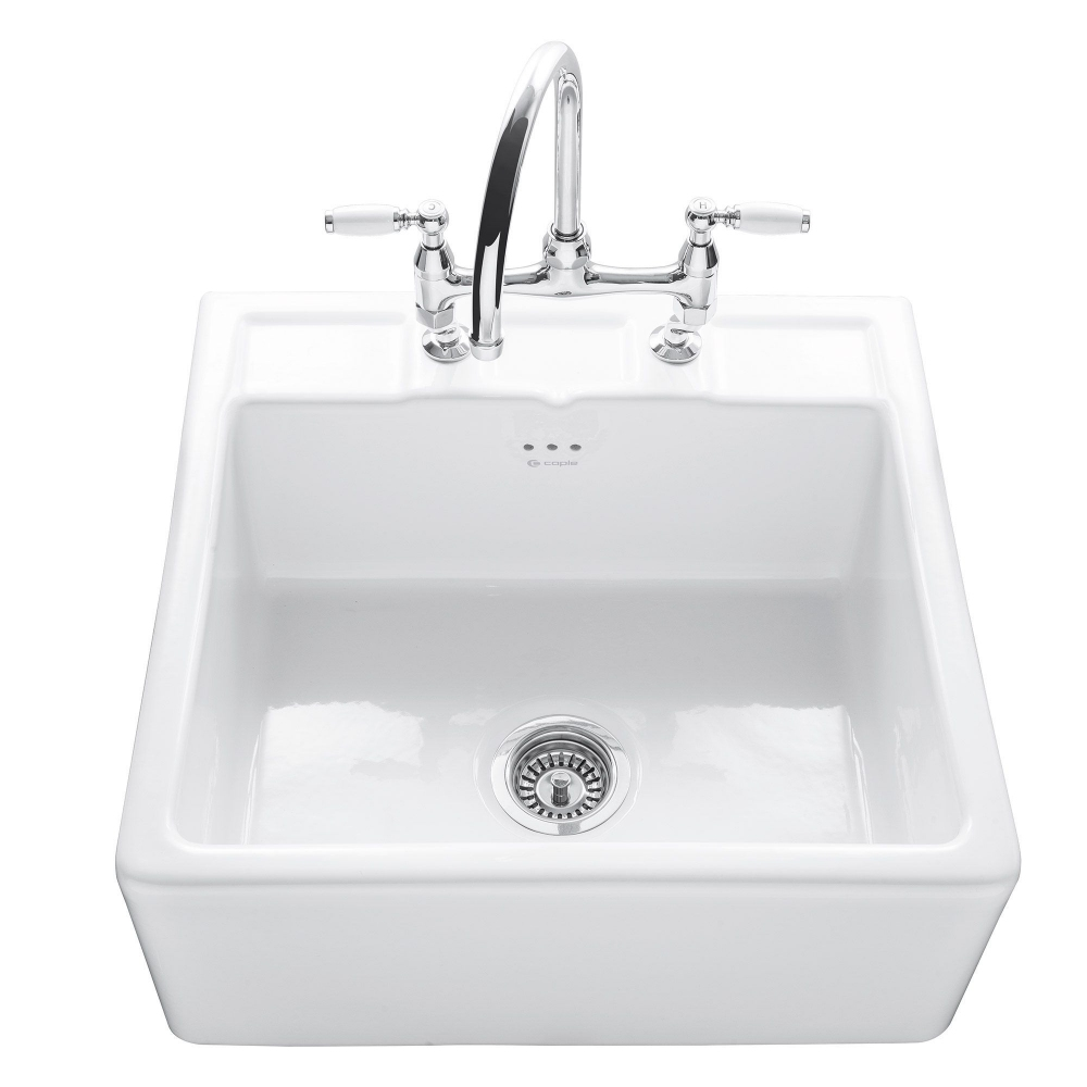 Image of Caple CPBS600TL Butler 60cm Single Bowl Ceramic Sink - WHITE