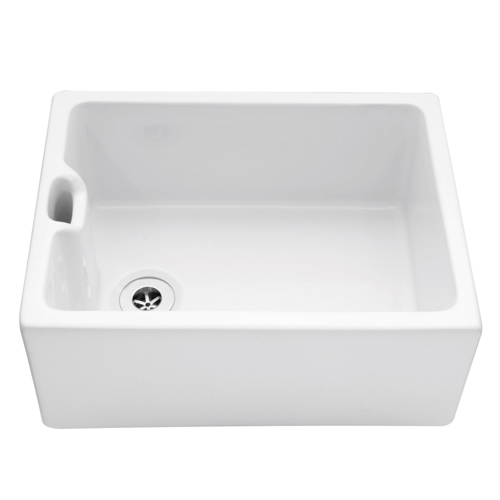 Image of Caple CPBS Belfast 60cm Single Bowl Ceramic Sink - WHITE