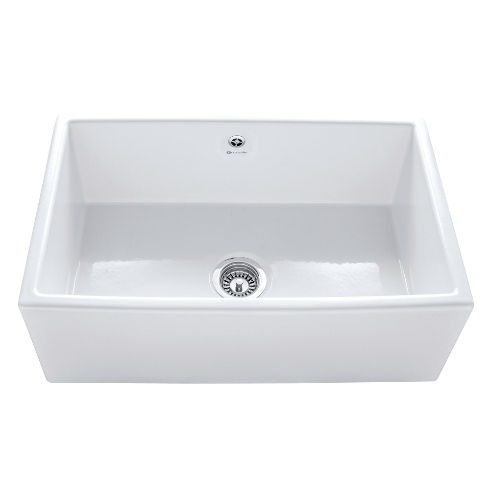 Image of Caple CPWDS762 76cm Farmhouse Single Bowl Ceramic Sink - WHITE