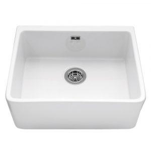 Caple YORK Yorkshire 60cm Single Bowl Ceramic Sink – WHITE