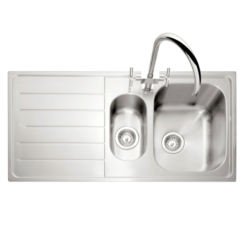 Image of Caple LY150SS/L Lyon 150 1.5 Bowl Inset Sink Left Hand Drainer - STAINLESS STEEL