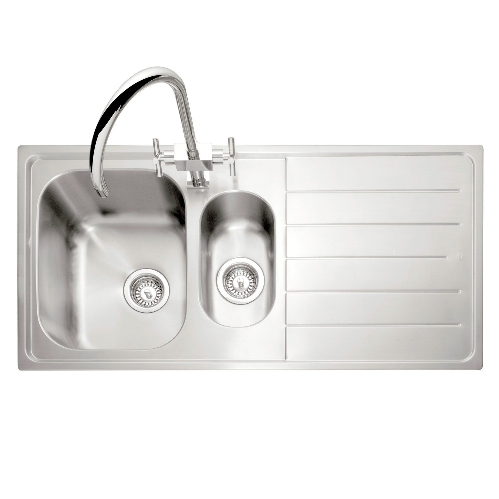 Image of Caple LY150SS/R Lyon 150 1.5 Bowl Inset Sink Right Hand Drainer - STAINLESS STEEL