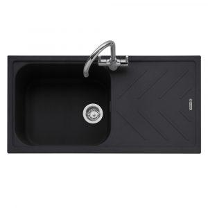 Caple VEI100AN Veis 100 Single Bowl Inset Sink Reversible Drainer – ANTHRACITE
