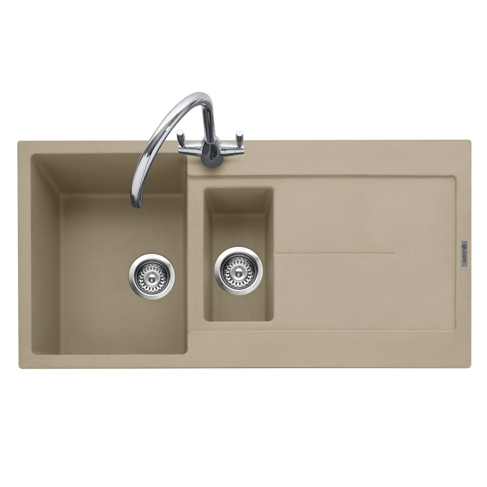 Image of Caple CAN150DS Canis 150 1.5 Bowl Inset Sink Reversible Drainer - DESERT SAND