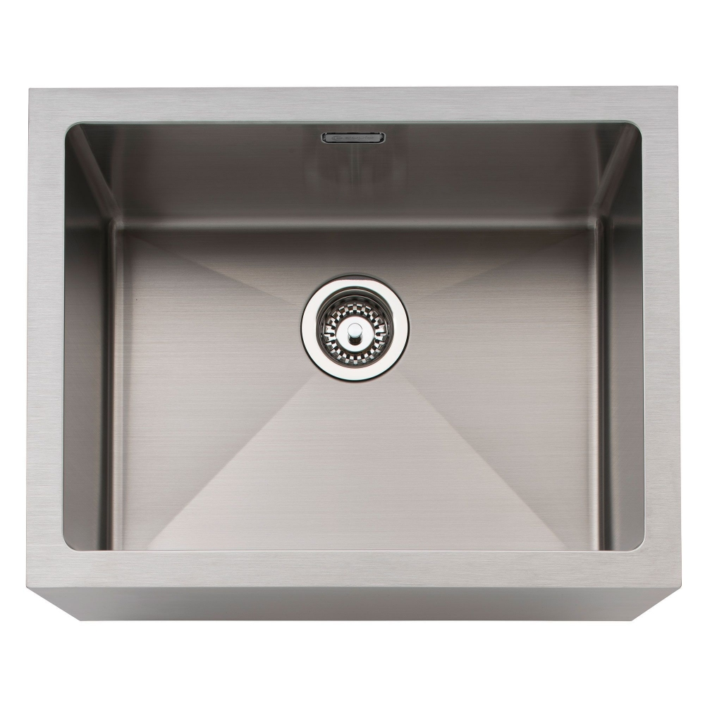 Image of Caple BELSS Belfast 60cm Single Bowl Stainless Steel Sink - STAINLESS STEEL