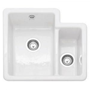 Caple PAL150 Paladin 150 1.5 Bowl Ceramic Sink RHSB – WHITE