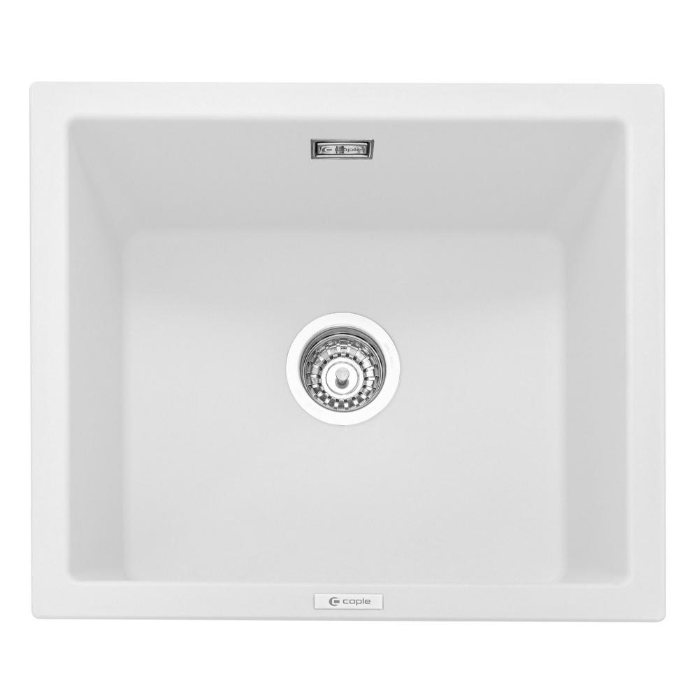 Image of Caple LEE600CW Leesti 600 Single Bowl Sink - WHITE