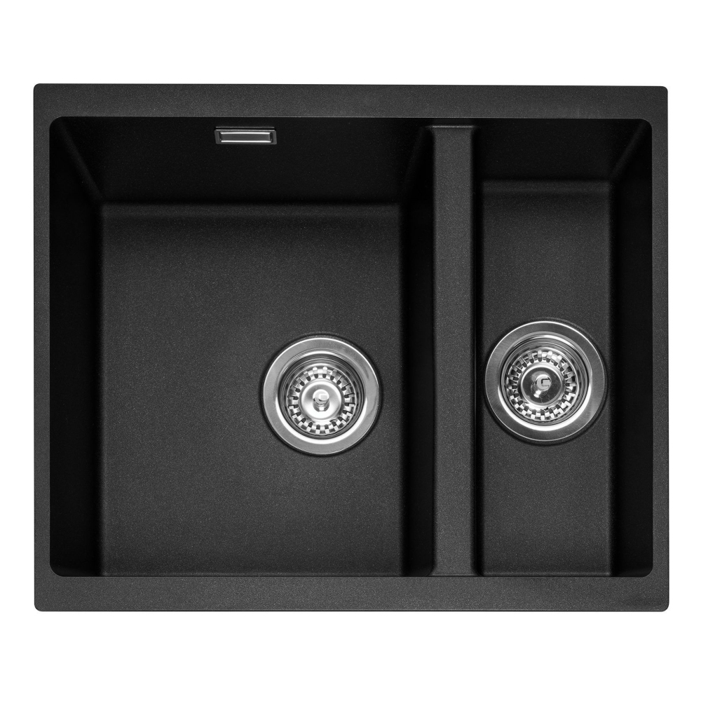 Image of Caple LEE150UAN Leesti 150 1.5 Bowl Sink Right Hand Small Bowl - ANTHRACITE
