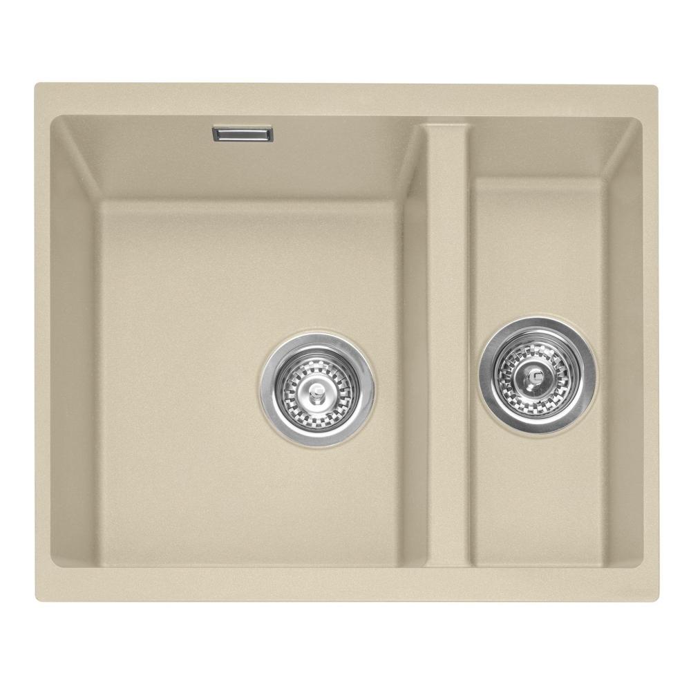 Image of Caple LEE150UDS Leesti 150 1.5 Bowl Sink Right Hand Small Bowl - DESERT SAND