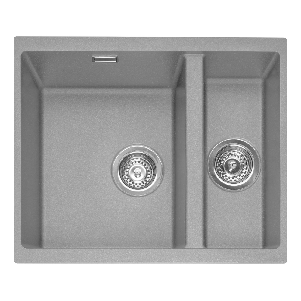 Image of Caple LEE150UPG Leesti 150 1.5 Bowl Sink Right Hand Small Bowl - GREY