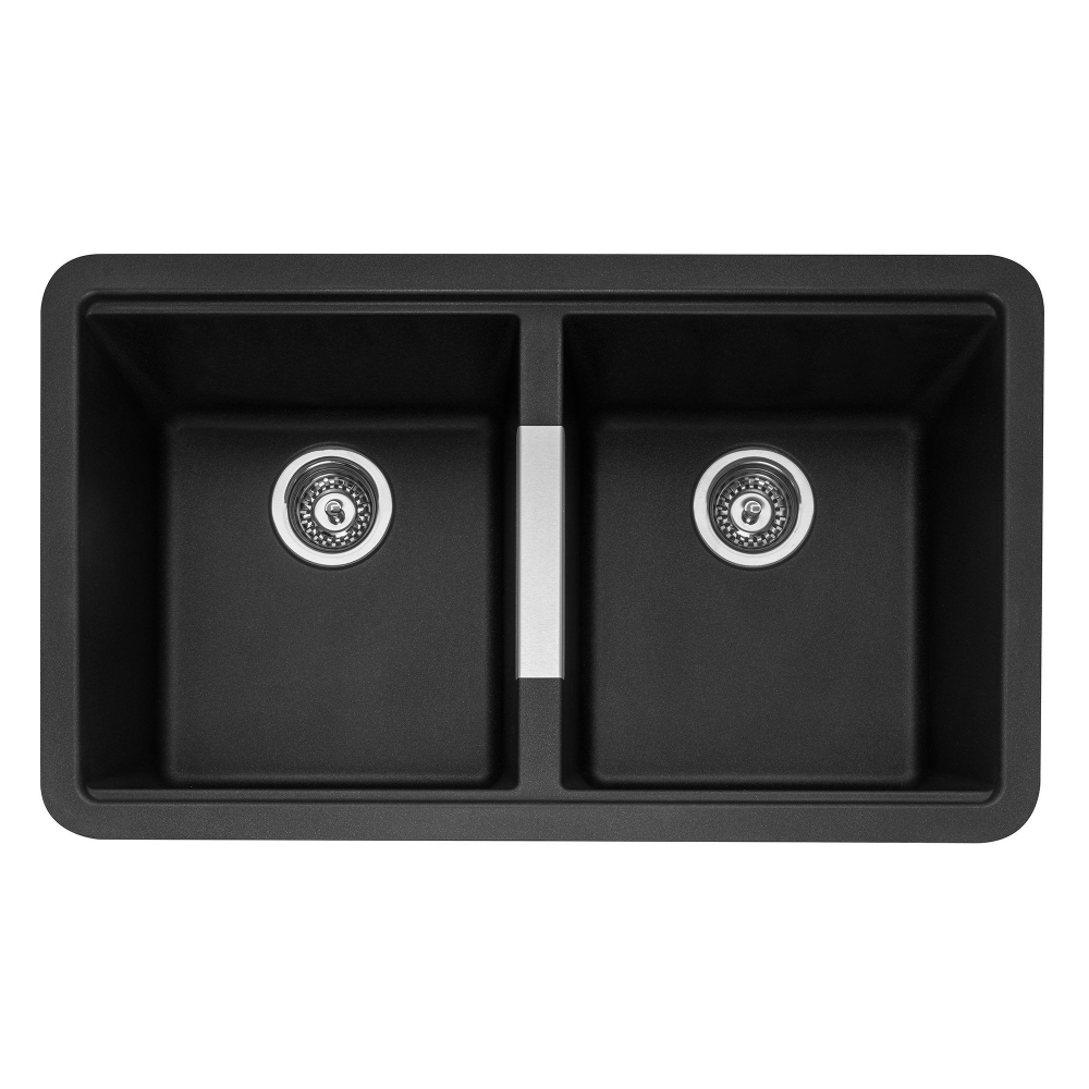 Image of Caple LEE200AN Leesti 200 Double Bowl Sink - ANTHRACITE
