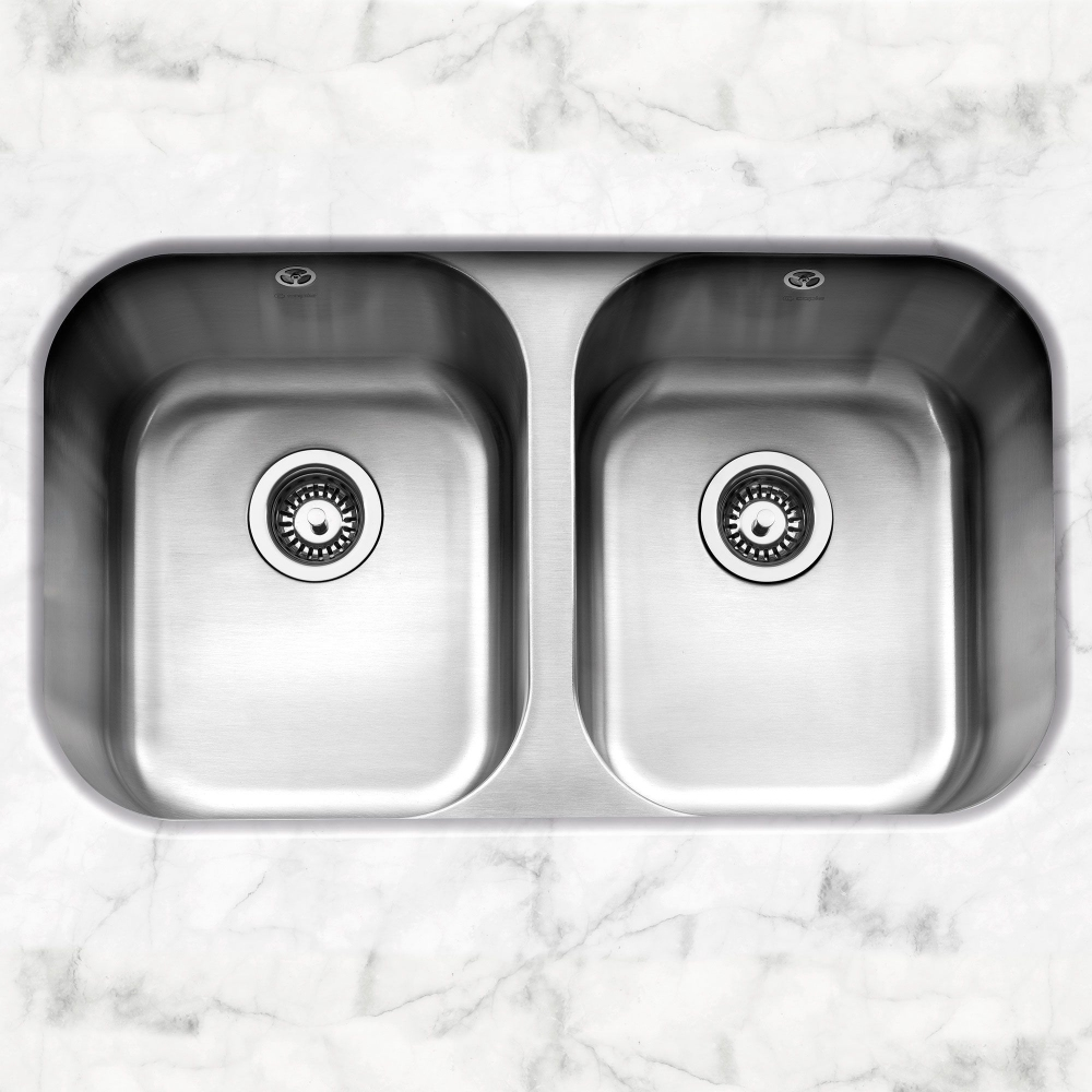 Image of Caple FORM3636 Form 3636 Double Bowl Undermount Sink - STAINLESS STEEL
