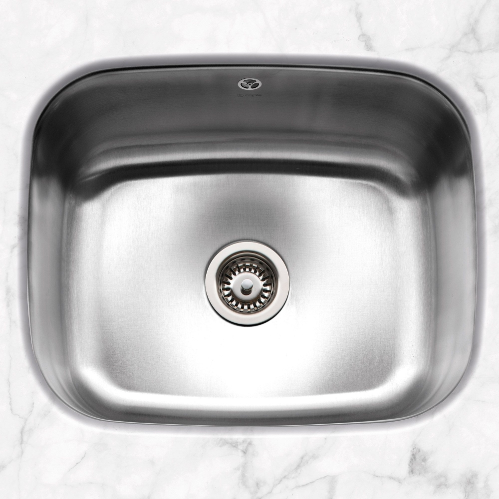 Image of Caple FORM52 Form 52 Single Bowl Undermount Sink - STAINLESS STEEL