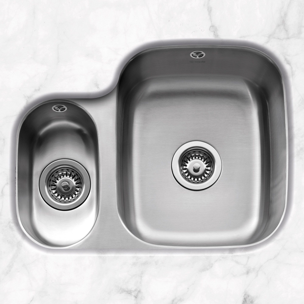 Image of Caple FORM150L Form 150 1.5 Bowl Undermount Sink Left Hand Small Bowl - STAINLESS STEEL