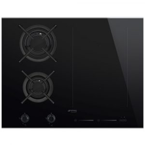 Smeg PM6621WLDX 65cm Dolce Stil Novo Mixed Induction And Gas Hob – STAINLESS STEEL