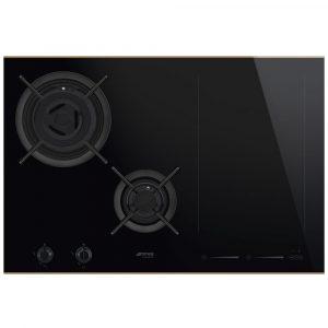 Smeg PM3912WLD 90cm Frameless Mixed Induction And Gas Hob – BLACK