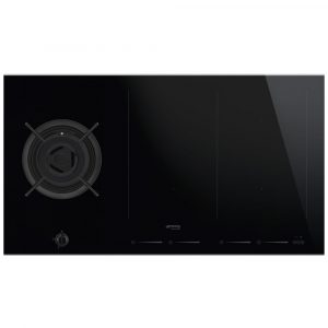 Smeg PM6912WLDX 90cm Dolce Stil Novo Mixed Induction And Gas Hob – STAINLESS STEEL