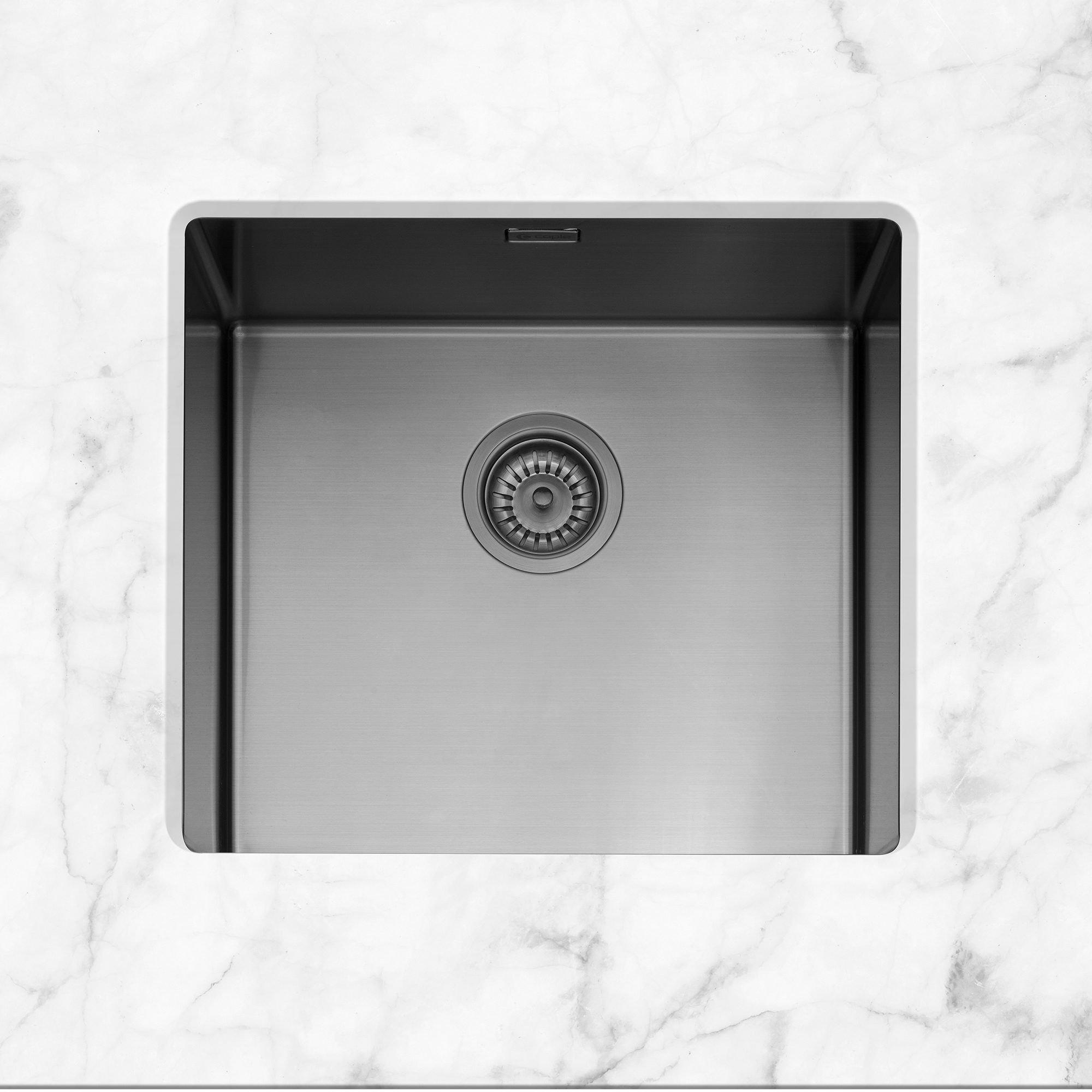 Image of Caple MODE045/GM Mode 45 Single Bowl Sink - GUNMETAL