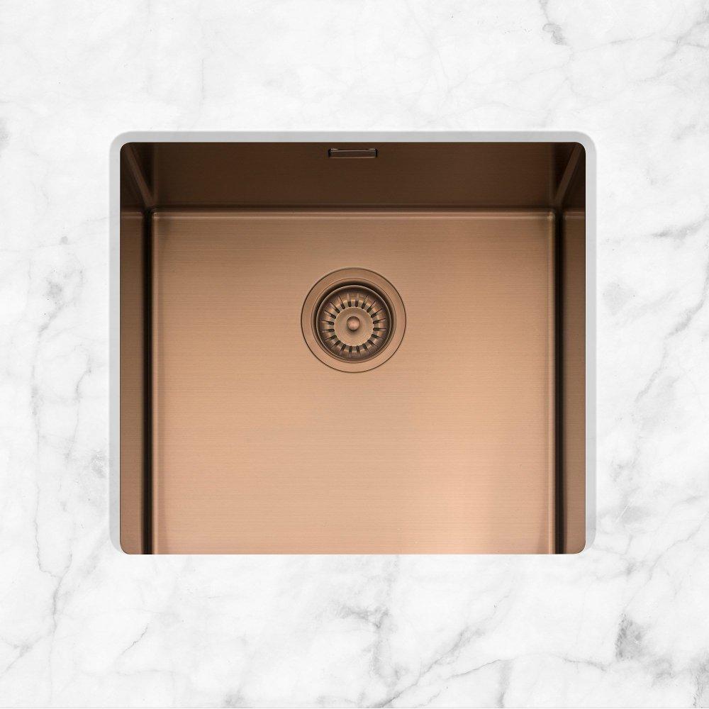 Image of Caple MODE045/CO Mode 45 Single Bowl Sink - COPPER