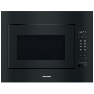 Miele M2240SC 60cm Built In Microwave & Grill For Wall Unit – BLACK