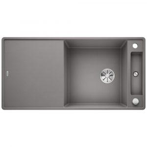 Blanco AXIA III XL 6 S ALUMETALLIC Silgranit 1.5 Bowl Inset Sink BL468253 – ALUMETALLIC