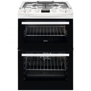 Zanussi ZCK66350WA 60cm Freestanding Dual Fuel Cooker – WHITE