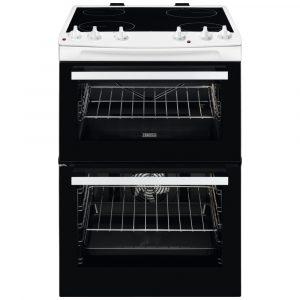 Zanussi ZCV66050WA 60cm Freestanding Ceramic Cooker – WHITE