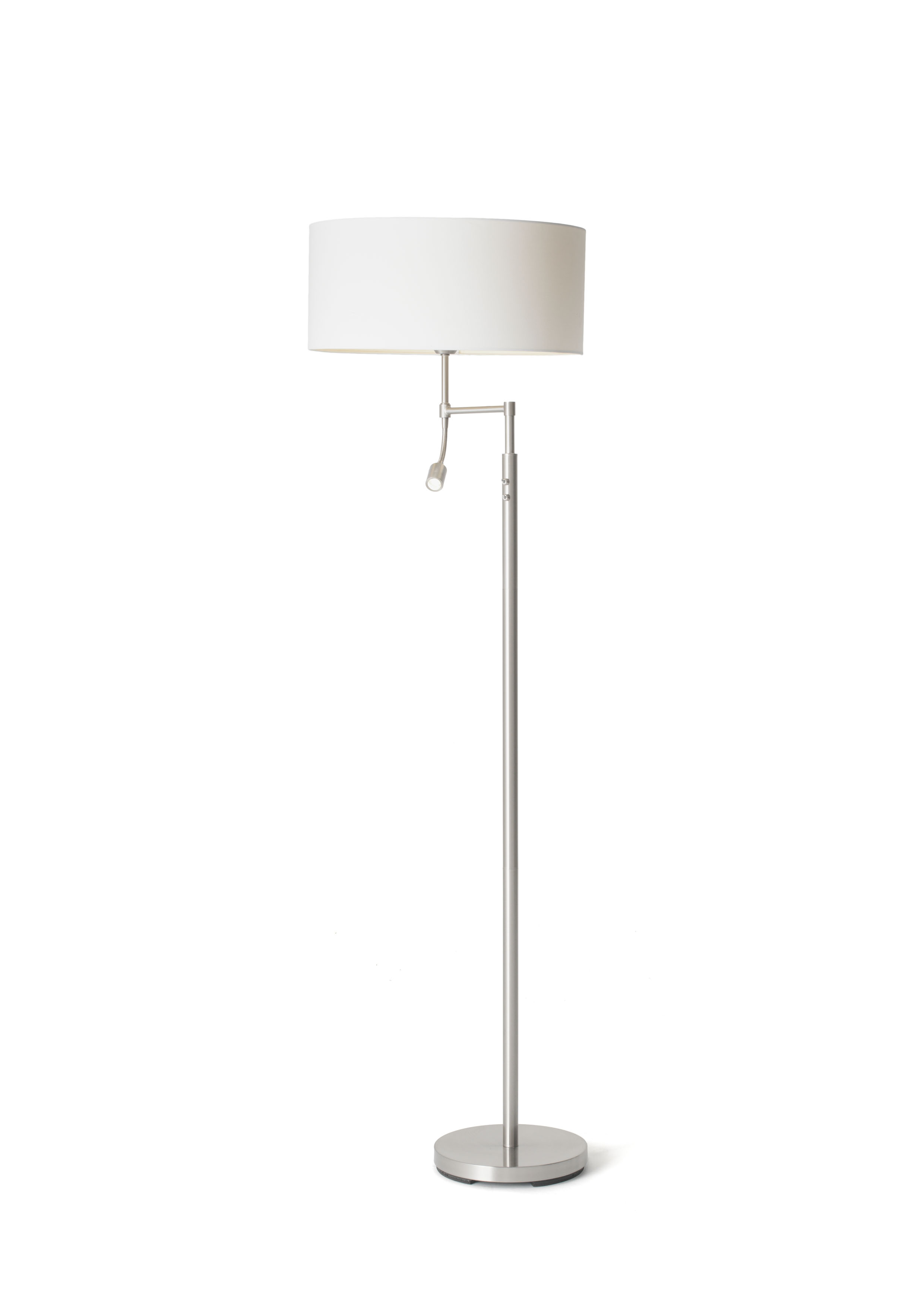 Oslo Floor Lamp W/shade : White-0
