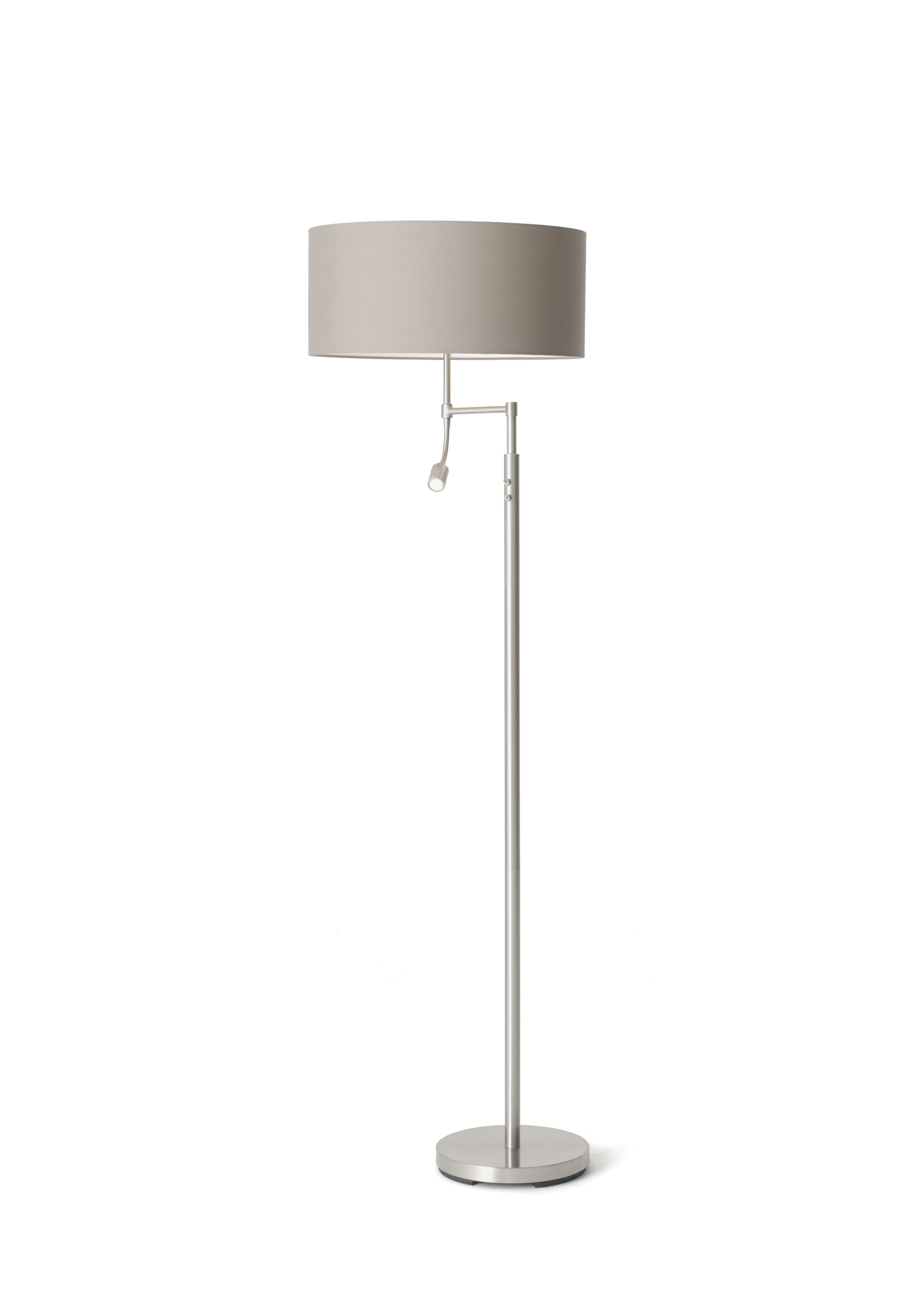 Oslo Floor Lamp W/shade : Polycotton Grey-0
