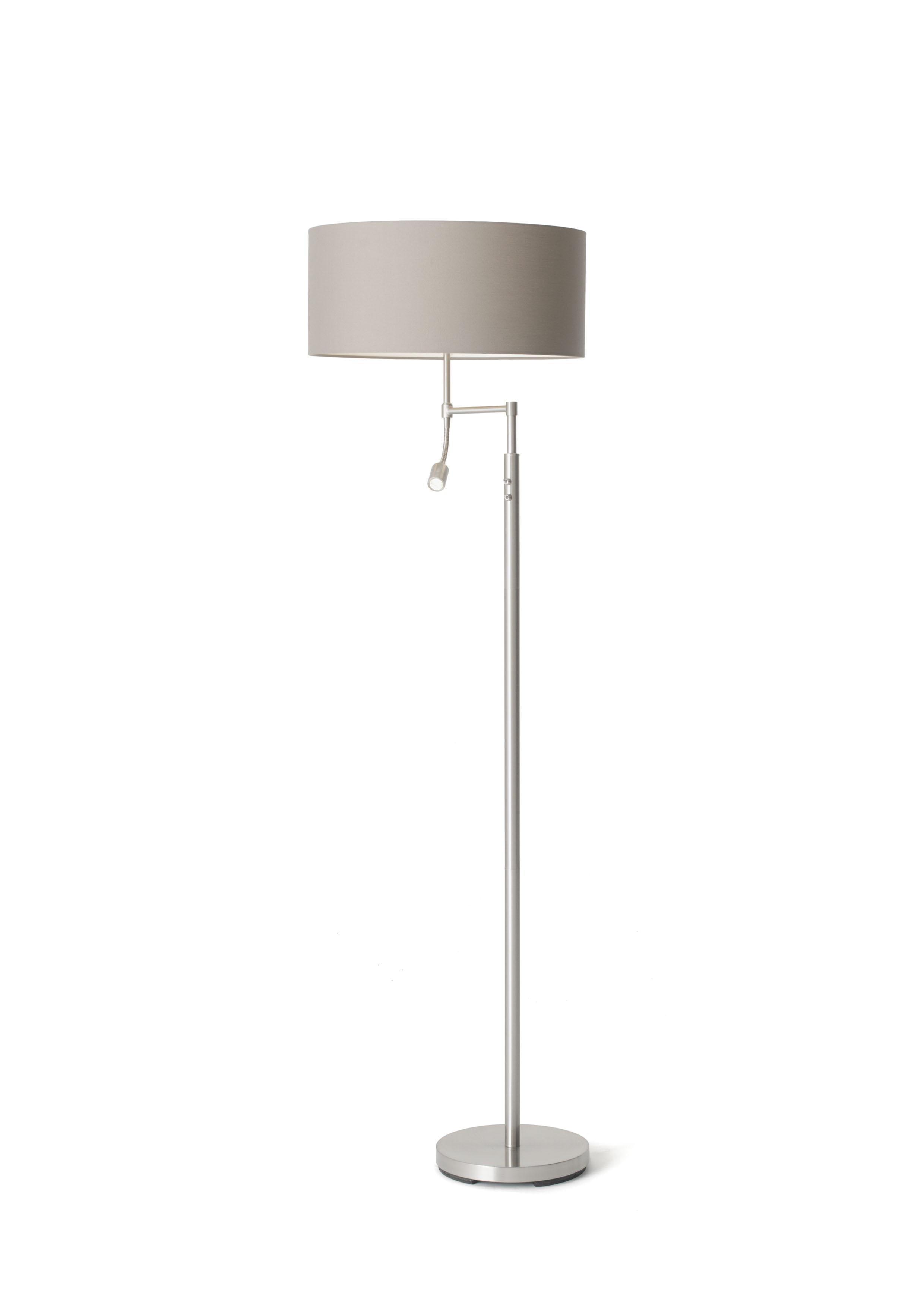 Oslo Floor Lamp W/shade : Polycotton Grey-0