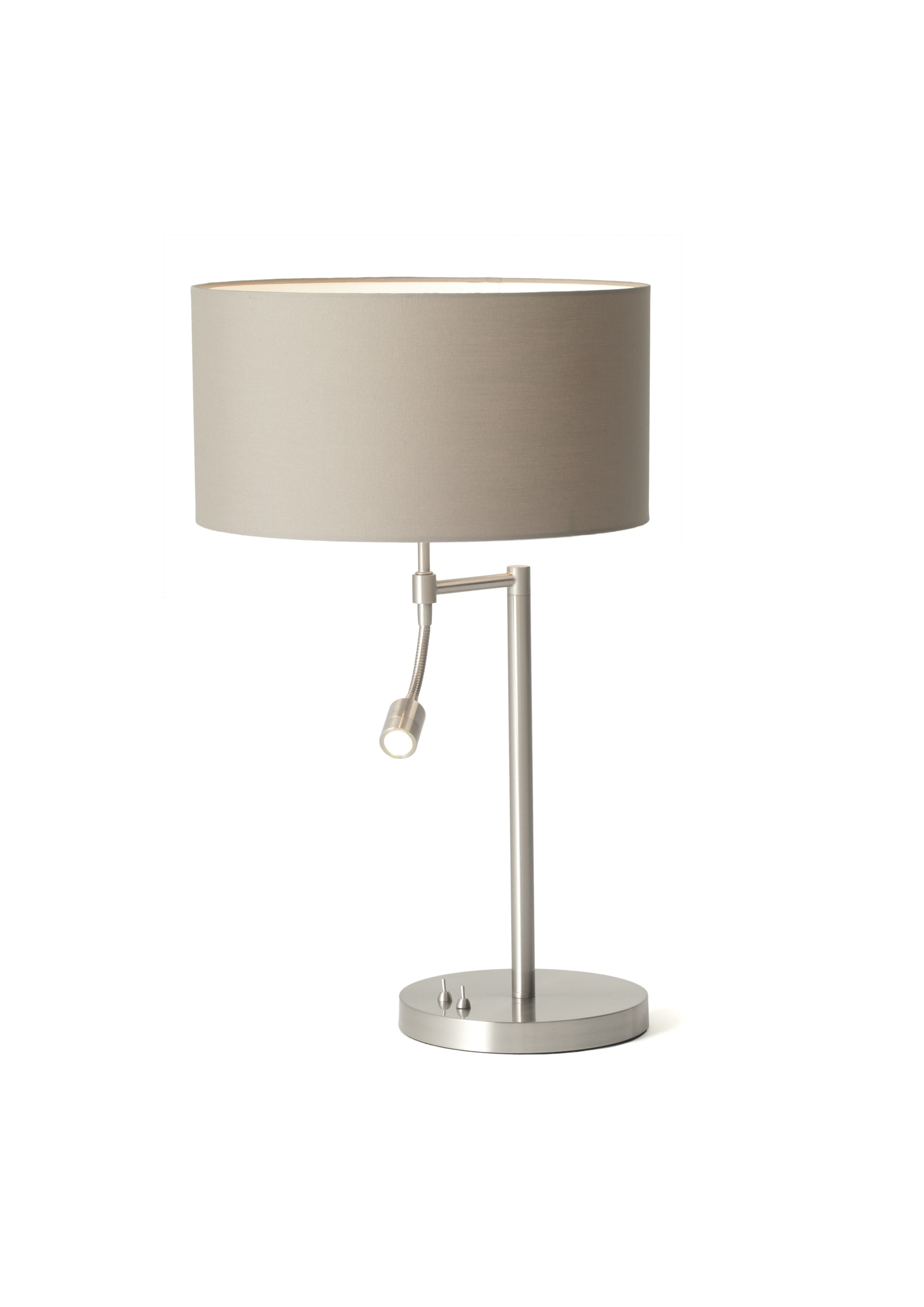 Oslo Table Lamp W/shade: Polycotton Grey-0