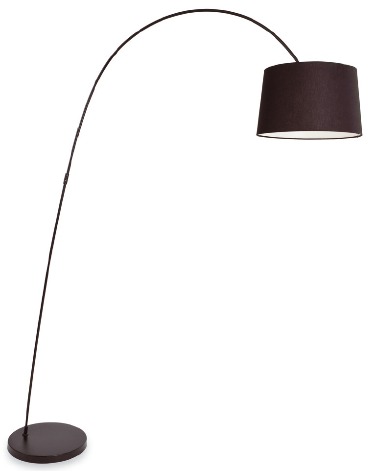 Swing black arch lamp with black shade-0