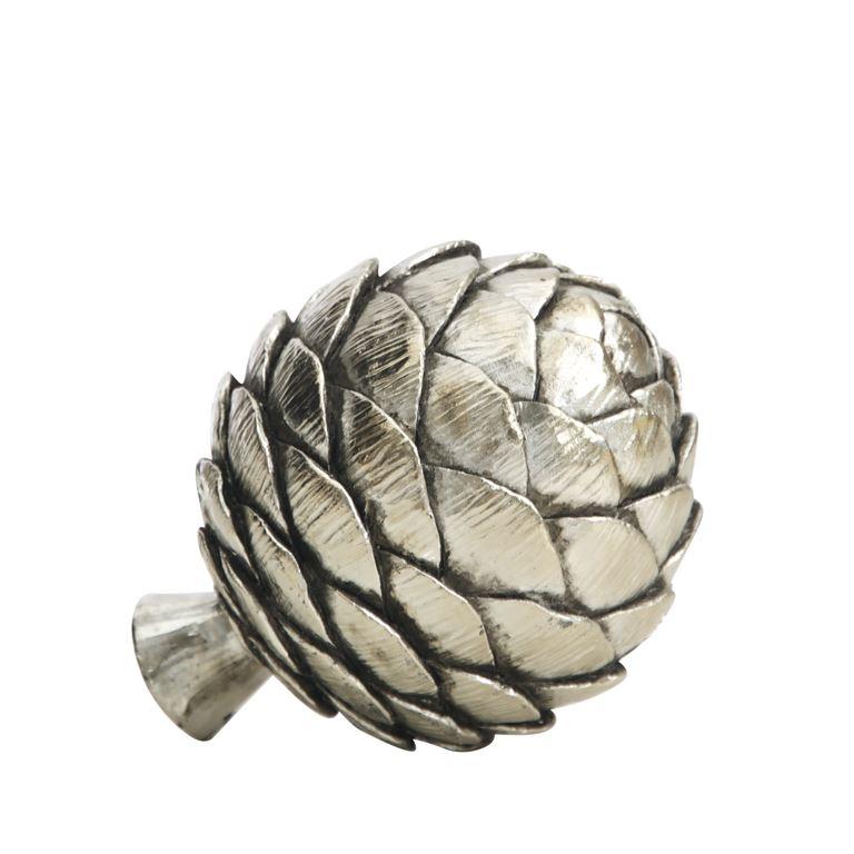 Decorative silver Artichoke large-0
