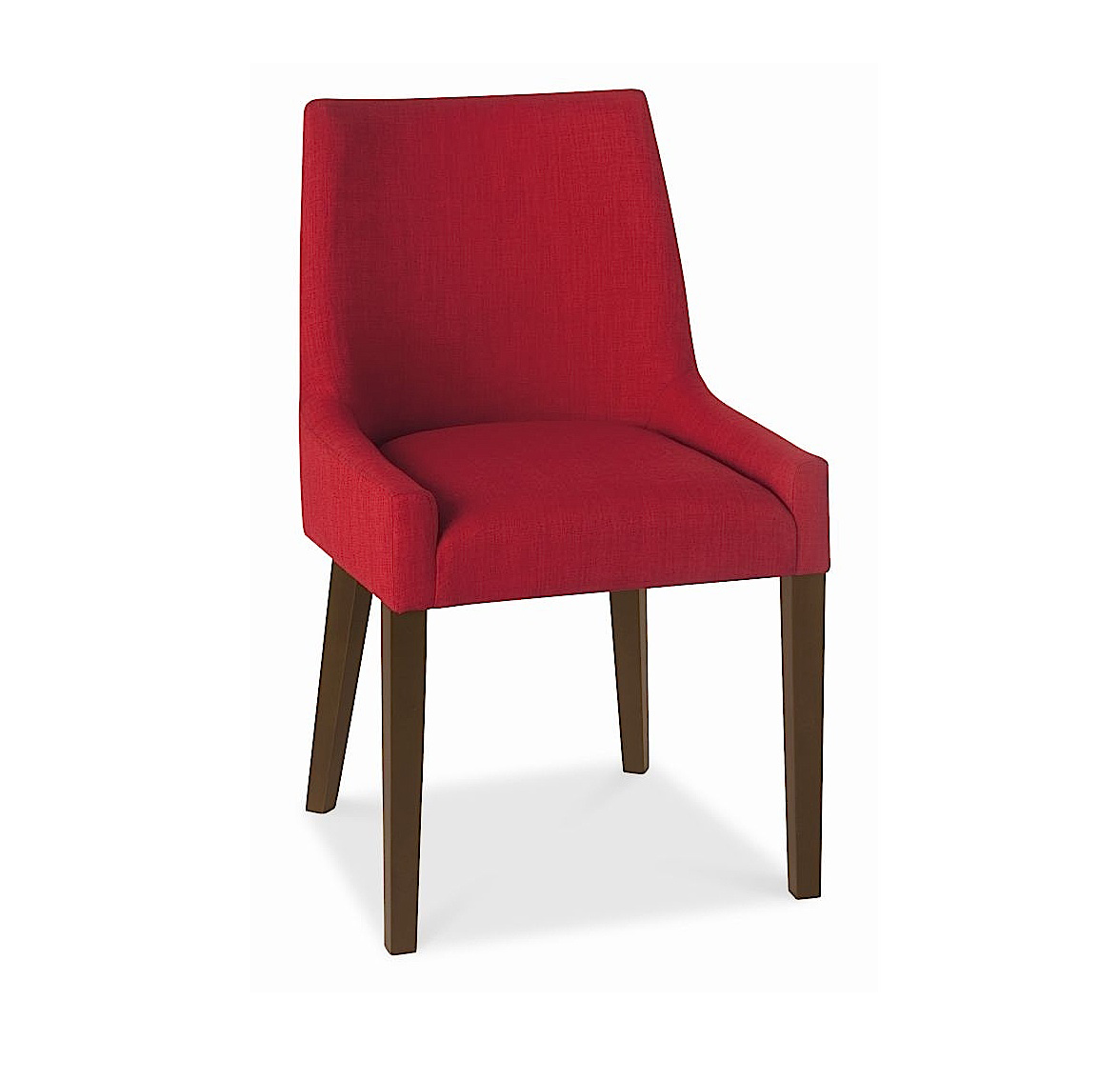 ALEX RED UPHOLSTERED DINING CHAIR WITH WALNUT LEGS -0