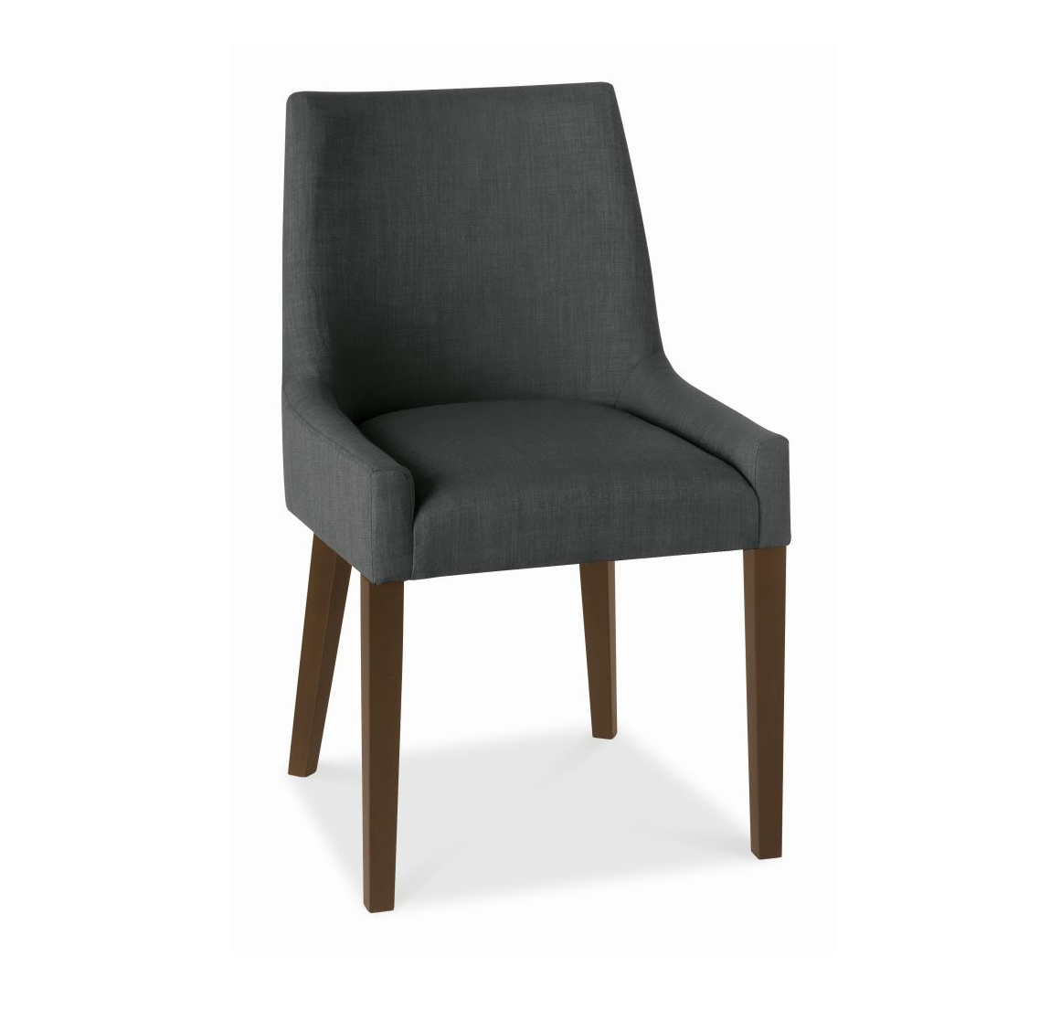 ALEX CHARCOAL UPHOLSTERED DINING CHAIR WITH WALNUT LEGS -0