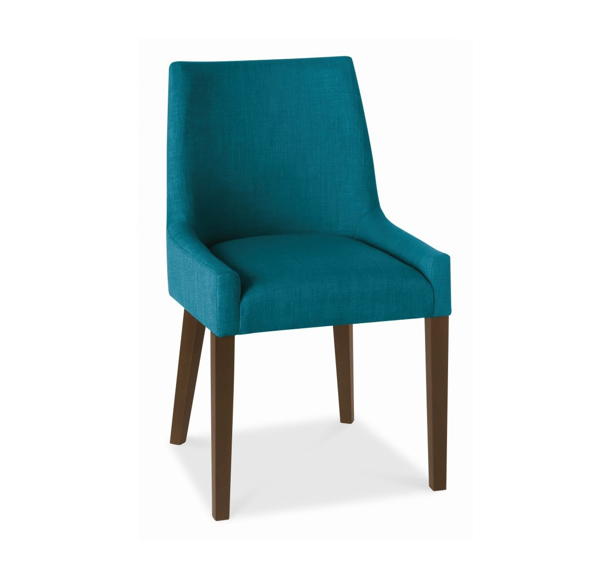 ALEX TEAL UPHOLSTERED DINING CHAIR WITH WALNUT LEGS -0
